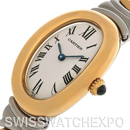 2541 Cartier  Baignoire Ladies Ss & 18k Yellow Gold W15045D8 SwissWatchExpo