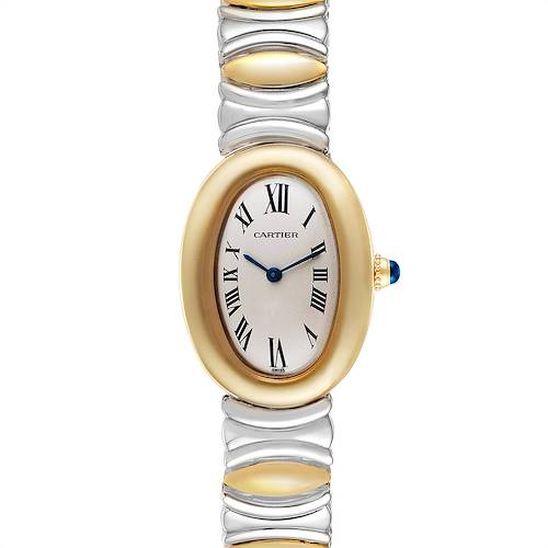 Photo of Cartier Baignoire 18k Yellow Gold Steel Ladies Watch W15045D8