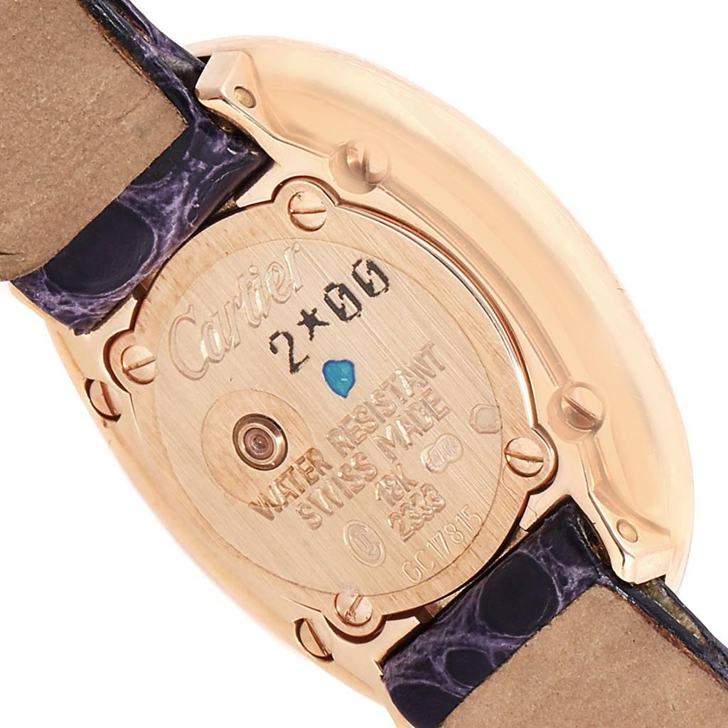 Cartier Baignoire Mini 18K Rose Gold Diamond Ladies Watch 2333 SwissWatchExpo