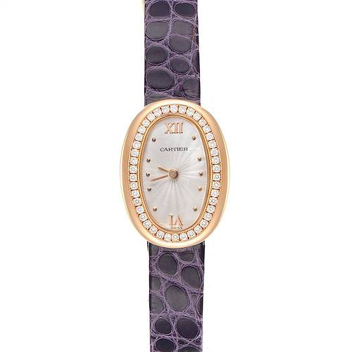 Photo of Cartier Baignoire Mini 18K Rose Gold Diamond Ladies Watch 2333