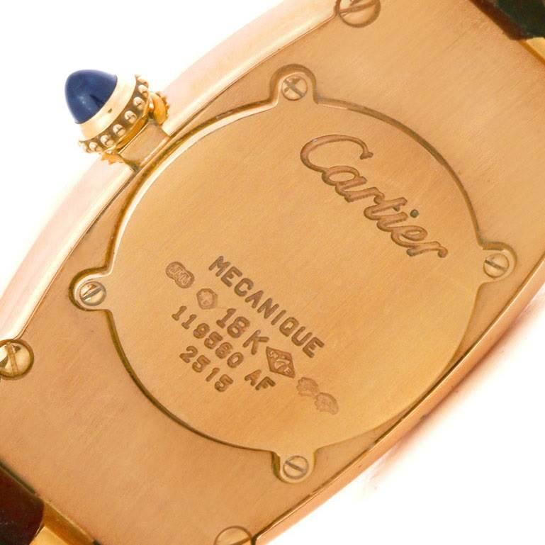 4343 Cartier Baignoire Allongee Mecanique 18K Rose Gold Ladies Watch SwissWatchExpo