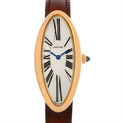 Photo of Cartier Baignoire Allongee Mecanique 18K Rose Gold Ladies Watch