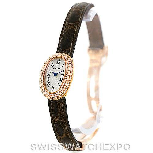 Cartier Baignoire Mini 18K Yellow Gold Diamond Ladies Watch SwissWatchExpo