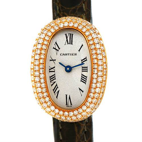 Photo of Cartier Baignoire Mini 18K Yellow Gold Diamond Ladies Watch