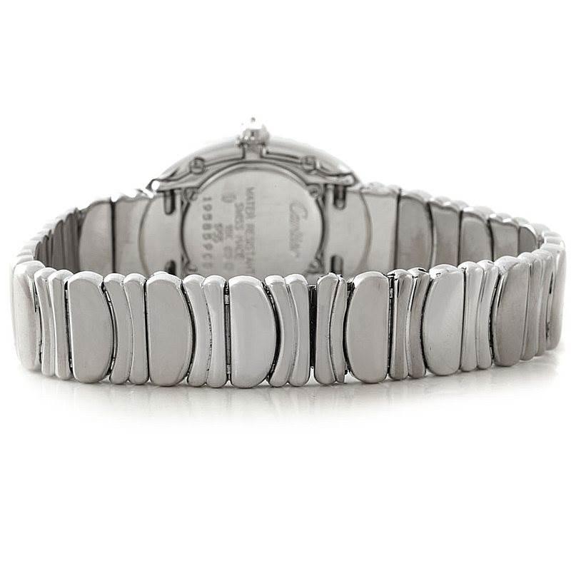 7851 Cartier Baignoire Ladies 18k White Gold Diamond Watch WB5097L2 SwissWatchExpo