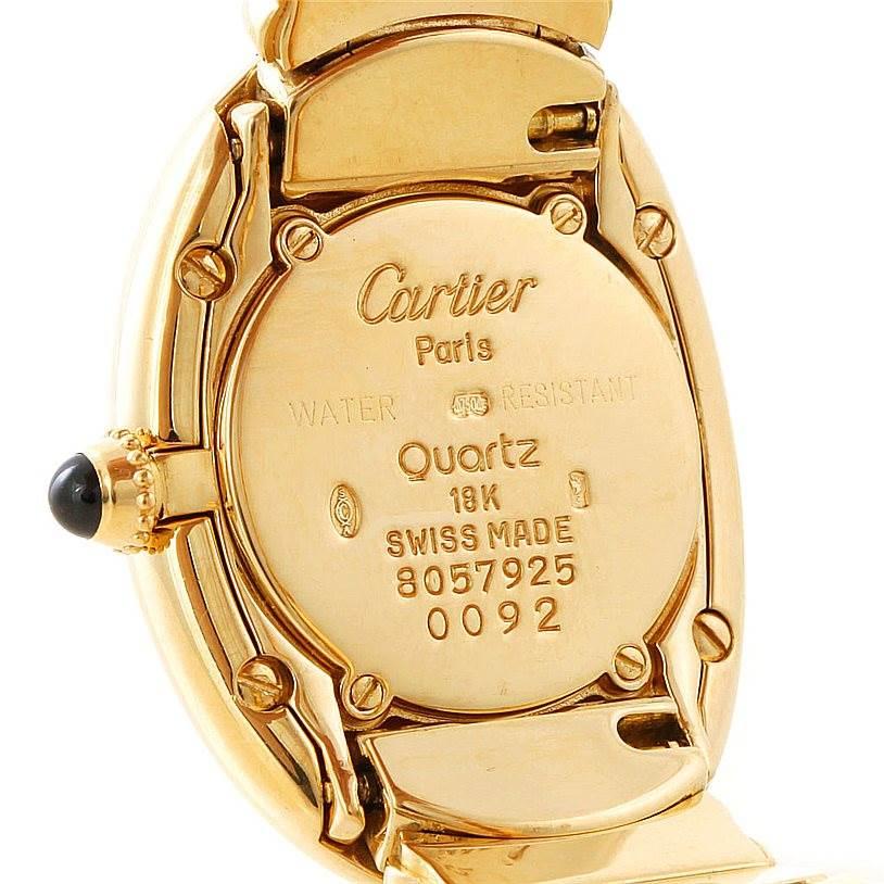 Cartier Baignoire 18k Yellow Gold Ladies Watch W15045D8 SwissWatchExpo