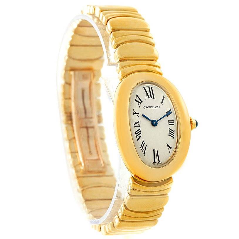 cartier baignoire 18k yellow gold ladies watch w15045d8. Black Bedroom Furniture Sets. Home Design Ideas