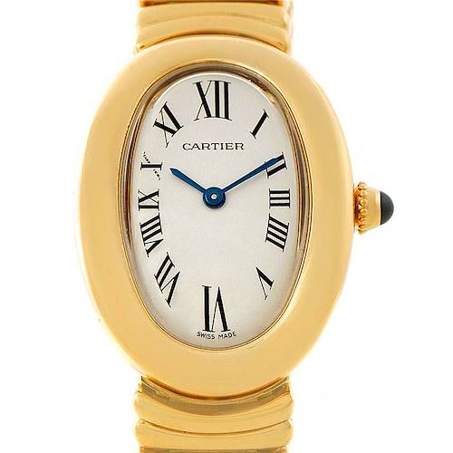 Photo of Cartier Baignoire 18k Yellow Gold Ladies Watch W15045D8
