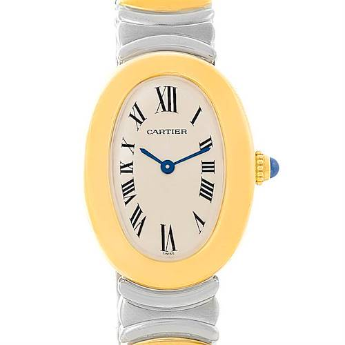 Photo of Cartier Baignoire Ladies Steel 18k Yellow Gold Watch W15045D8