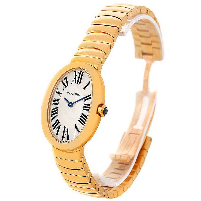Cartier Baignoire 18k Yellow Gold Ladies Watch W8000008 SwissWatchExpo