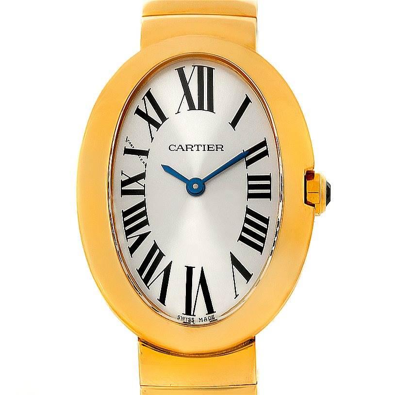 8290P Cartier Baignoire 18k Yellow Gold Ladies Watch W8000008 SwissWatchExpo