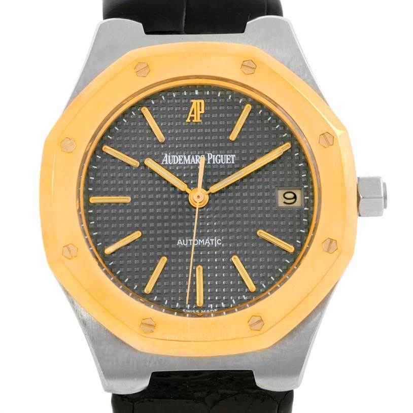 6881 Audemars Piguet Royal Oak Cuir Steel 18K Yellow Gold Mens Watch 14800 SwissWatchExpo
