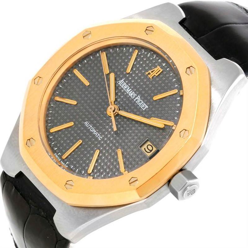 Audemars Piguet Royal Oak Cuir Steel 18K Yellow Gold Mens Watch 14800 SwissWatchExpo
