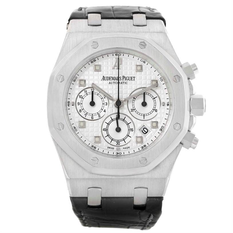10359P Audemars Piguet Royal Oak White Gold Chrono Watch 26022BC.OO.D002CR.01 SwissWatchExpo