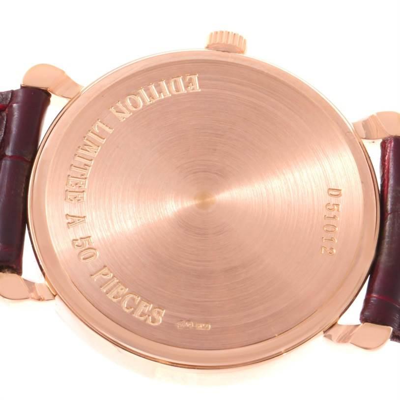12129 Audemars Piguet Vintage 18K Rose Gold Round Limited Edition Watch SwissWatchExpo