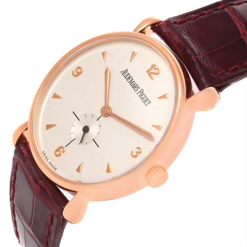 Audemars Piguet Vintage 18K Rose Gold Round Limited Edition Watch SwissWatchExpo