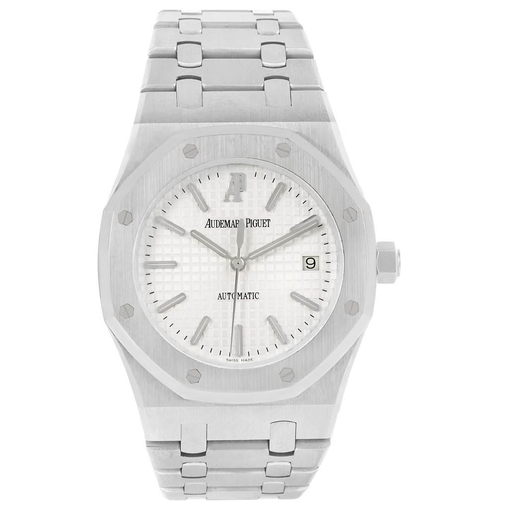 555ae448923 ... 13579 Audemars Piguet Royal Oak Stainless Steel Silver Dial Mens Watch  15300 SwissWatchExpo ...