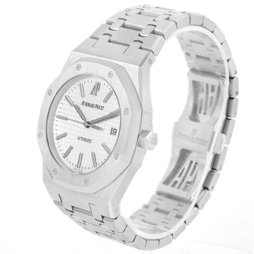 Audemars Piguet Royal Oak Stainless Steel Silver Dial Mens Watch 15300 SwissWatchExpo