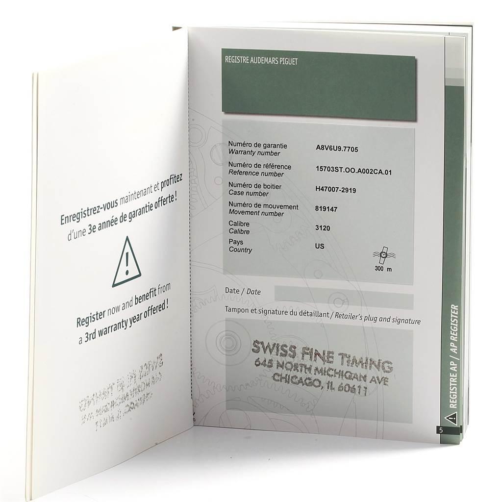 Audemars Piguet Royal Oak Offshore Steel Mens Watch 15703ST Box Papers SwissWatchExpo