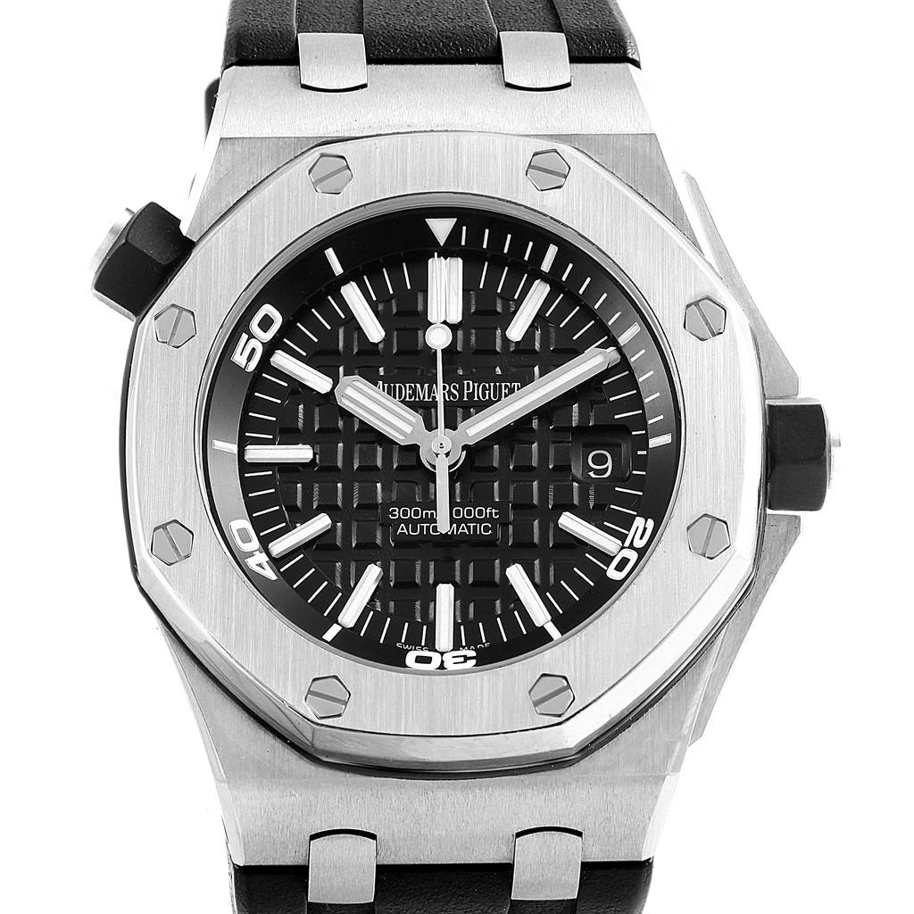 18453 Audemars Piguet Royal Oak Offshore Steel Mens Watch 15703ST Box Papers SwissWatchExpo