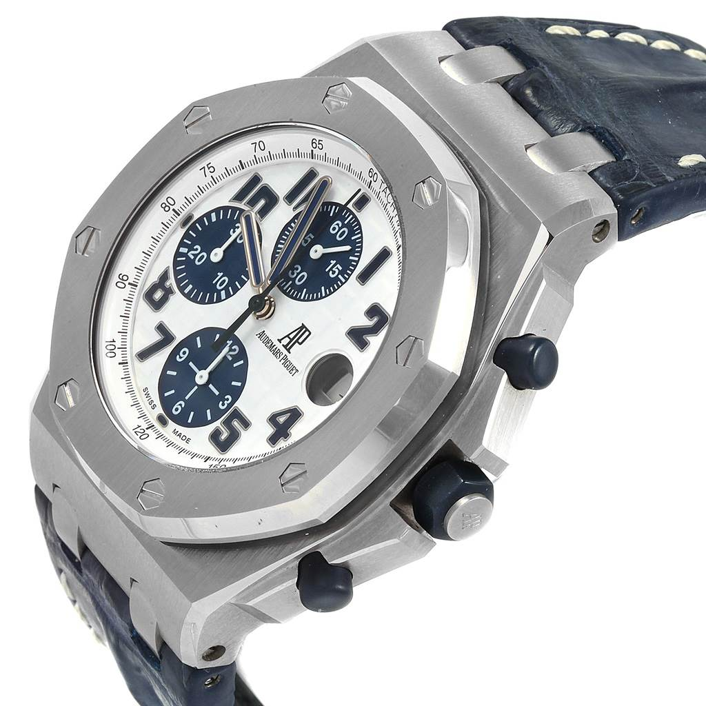 Audemars Piguet Royal Oak Offshore Navy Blue Chronograph Watch 26170ST SwissWatchExpo