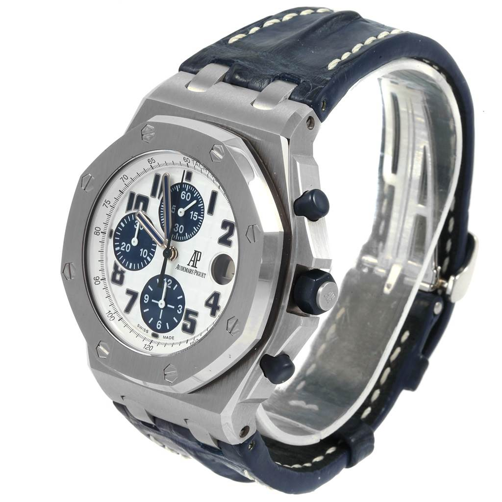 21521 Audemars Piguet Royal Oak Offshore Navy Blue Chronograph Watch 26170ST SwissWatchExpo