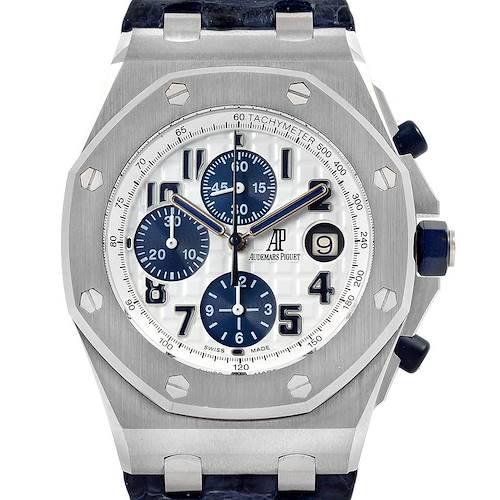 Photo of Audemars Piguet Royal Oak Offshore Navy Blue Chronograph Watch 26170ST