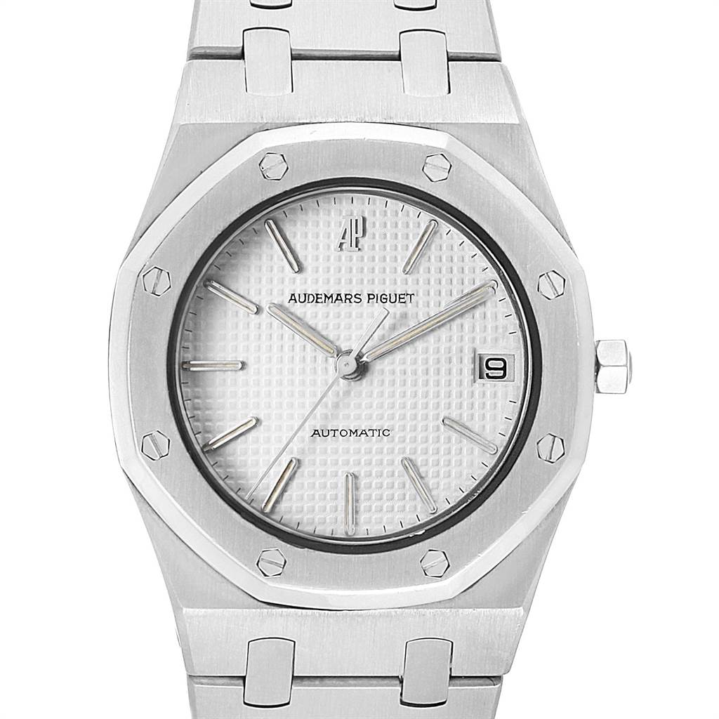 21642 Audemars Piguet Royal Oak 35mm Silver Dial Steel Mens Watch SwissWatchExpo