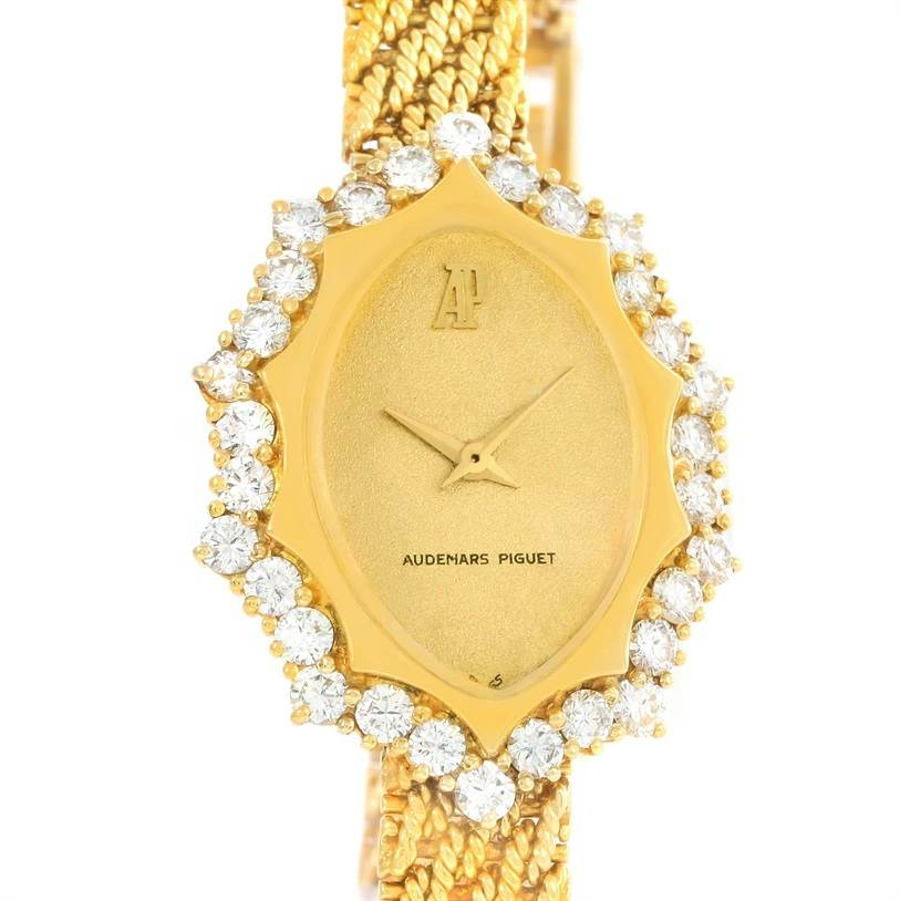 Audemars Piguet Vintage 18k Yellow Gold 1.67 Ct Diamond Cocktail Watch