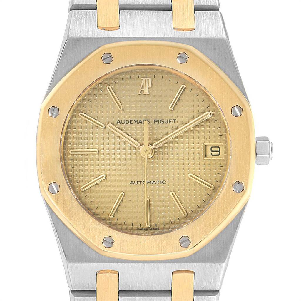 3344X Audemars Piguet Royal Oak 33mm Grey Dial Steel Yellow Gold Mens Watch SwissWatchExpo