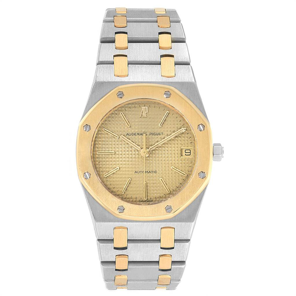 Audemars Piguet Royal Oak 33mm Grey Dial Steel Yellow Gold Mens Watch SwissWatchExpo