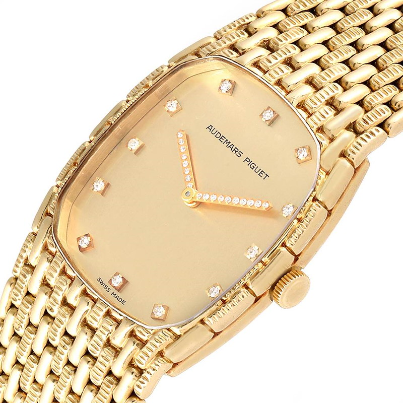 Audemars Piguet 18K Yellow Gold Diamond Unisex Watch 40154 SwissWatchExpo