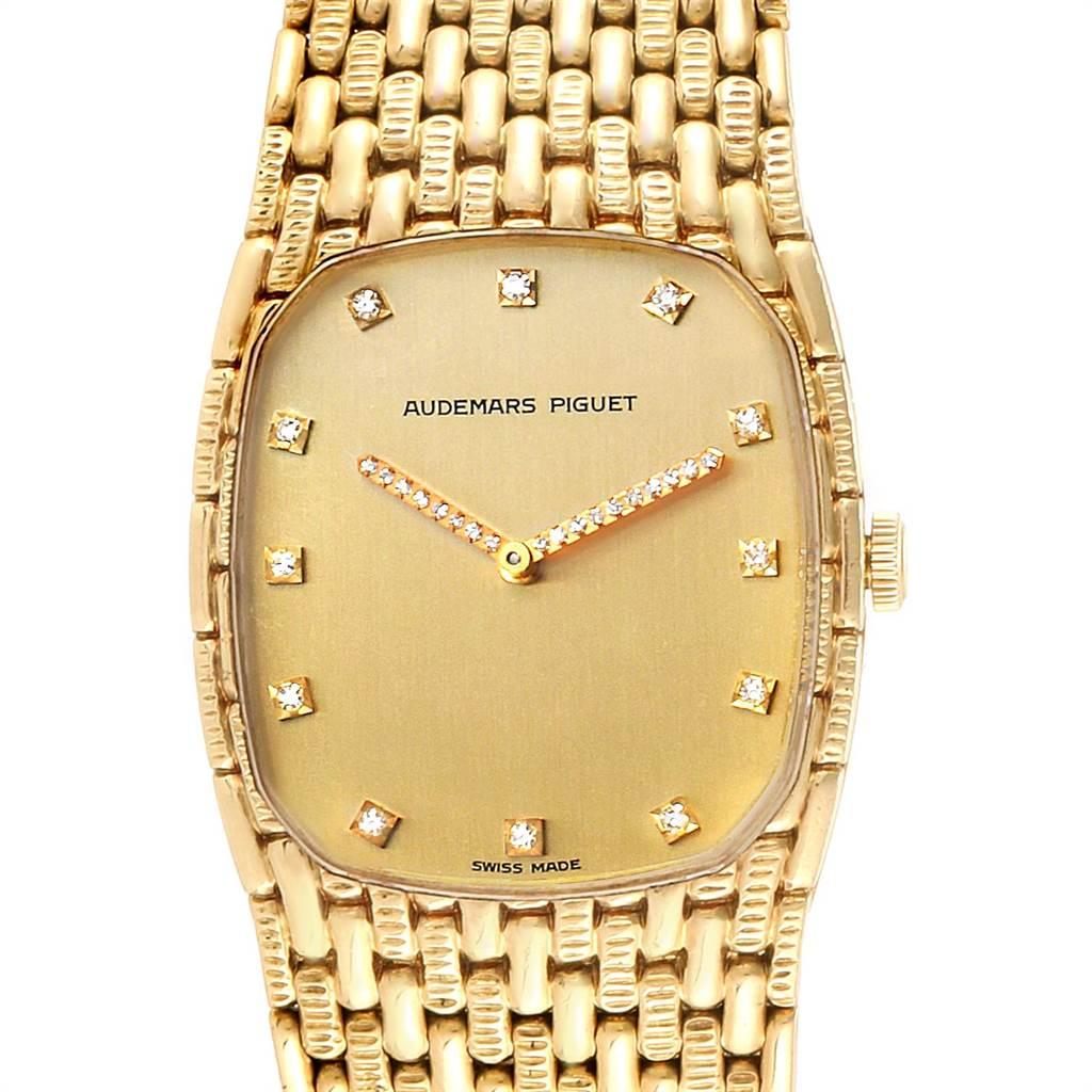 Audemars Piguet 18K Yellow Gold Diamond Unisex Watch 40154 SwissWatchExpo