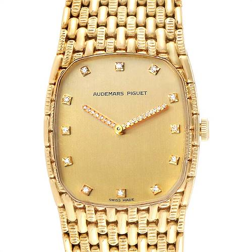 Photo of Audemars Piguet 18K Yellow Gold Diamond Unisex Watch 40154