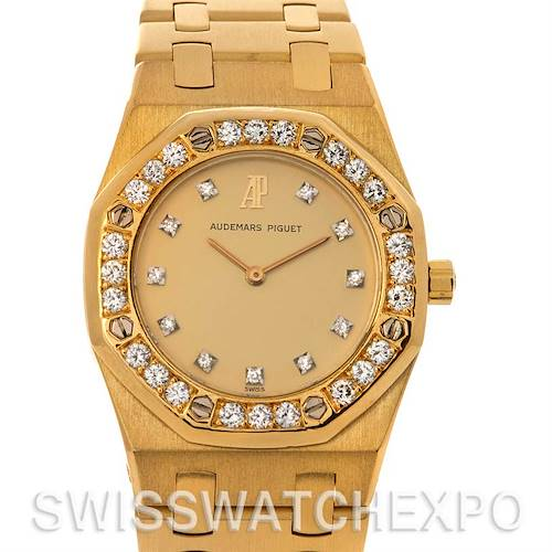 Photo of Audemars Piguet Royal Oak 18k Gold Ladies Watch