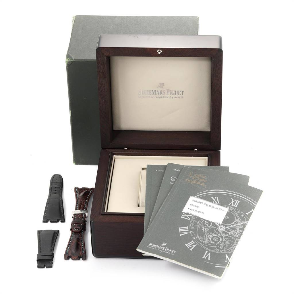 24819 Audemars Piguet Royal Oak Offshore 26020ST Watch Box Papers SwissWatchExpo