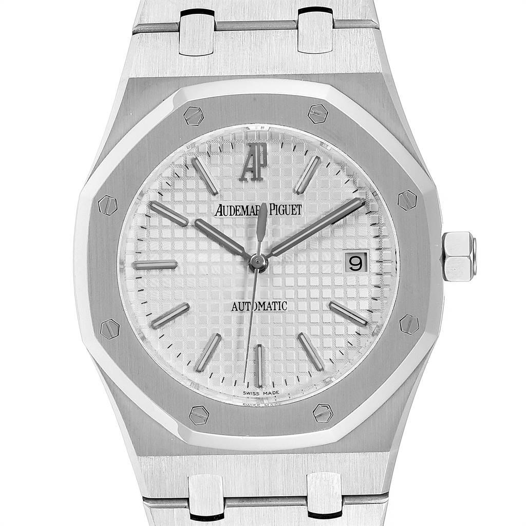 Audemars Piguet Royal Oak Silver Dial Steel Mens Watch 15300 SwissWatchExpo