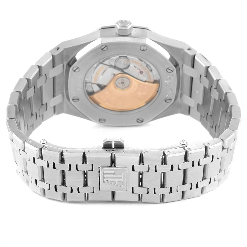 25243 Audemars Piguet Royal Oak Black Dial Steel Mens Watch 15300 SwissWatchExpo