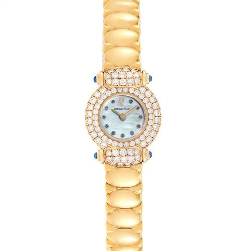 Photo of Audemars Piguet Yellow Gold MOP Diamond Sapphire Ladies Watch