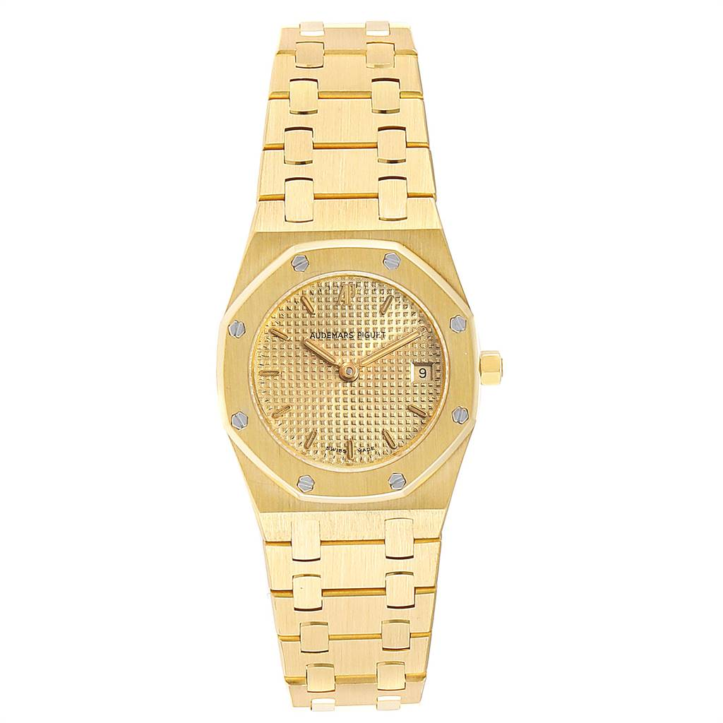 Audemars Piguet Royal Oak Quartz Champagne Dial Ladies Watch 67075 SwissWatchExpo
