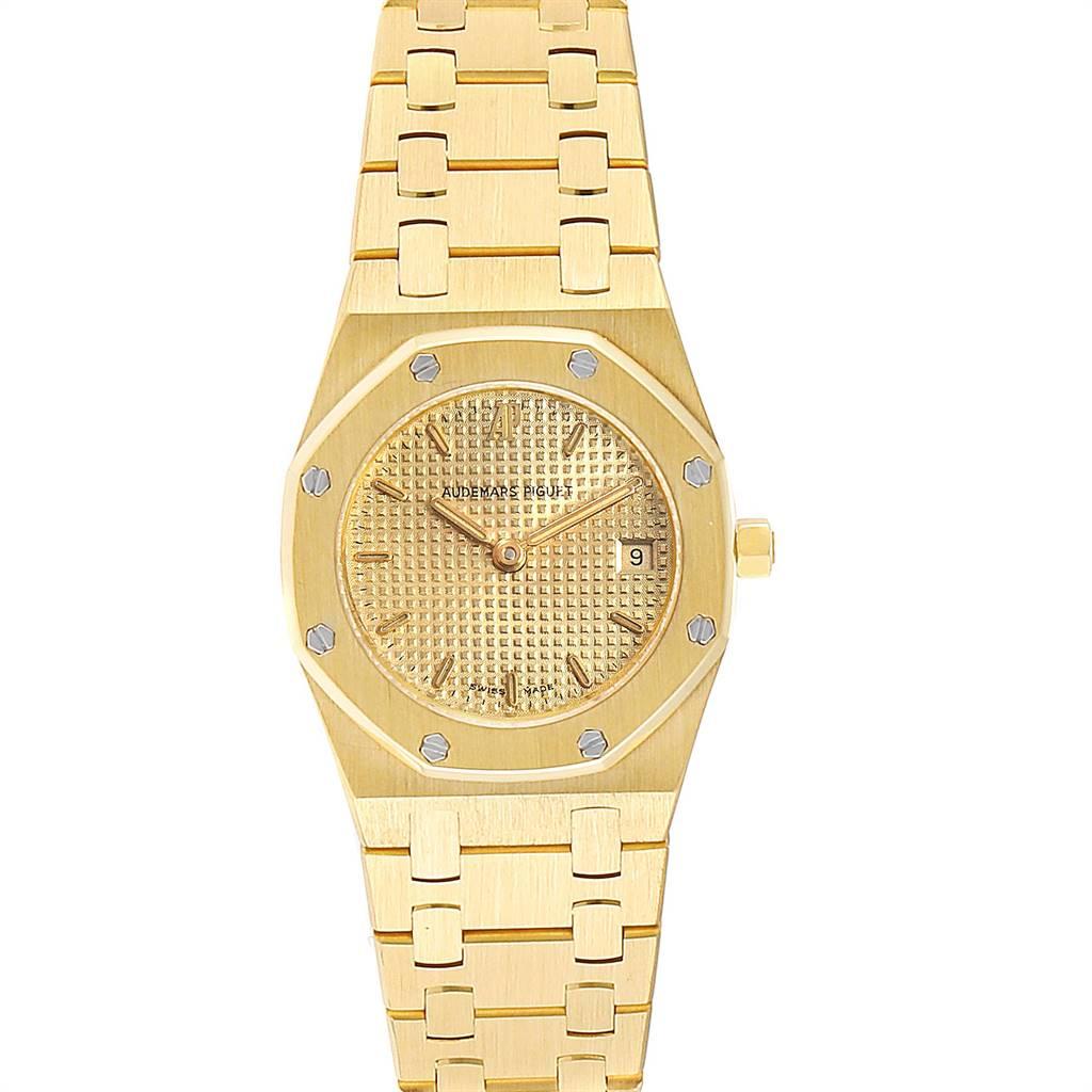 25800 Audemars Piguet Royal Oak Quartz Champagne Dial Ladies Watch 67075 SwissWatchExpo