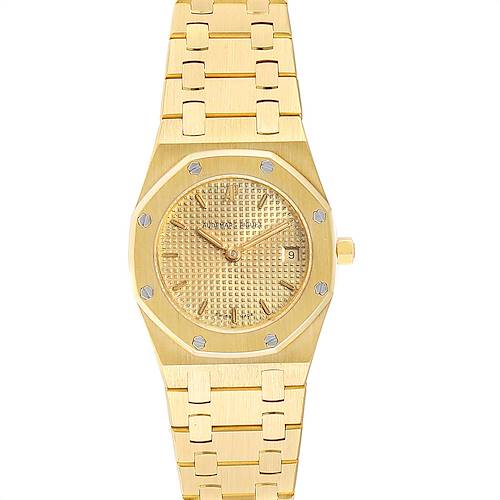 Photo of Audemars Piguet Royal Oak Quartz Champagne Dial Ladies Watch 67075