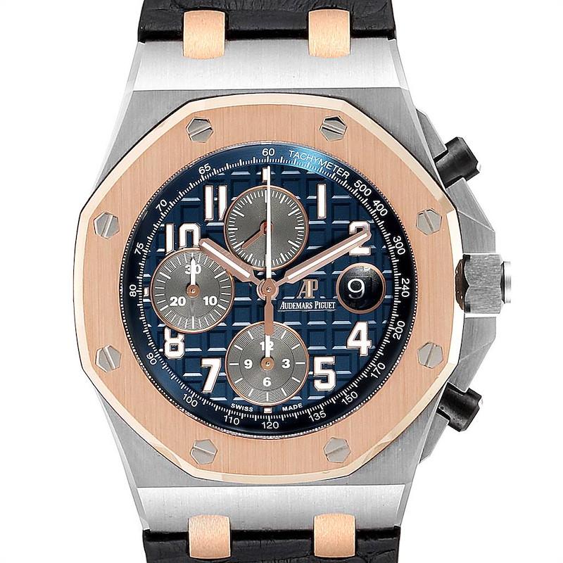 Audemars Piguet Royal Oak Offshore Steel Rose Gold Mens Watch 26471ST SwissWatchExpo