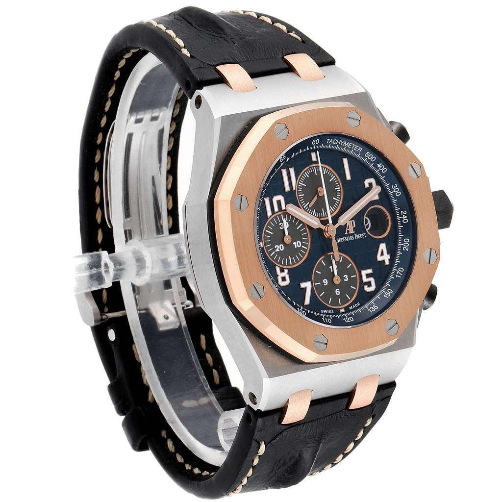 Audemars Piguet Royal Oak Offshore Steel Rose Gold Mens Watch 26471ST SwissWatchExpo