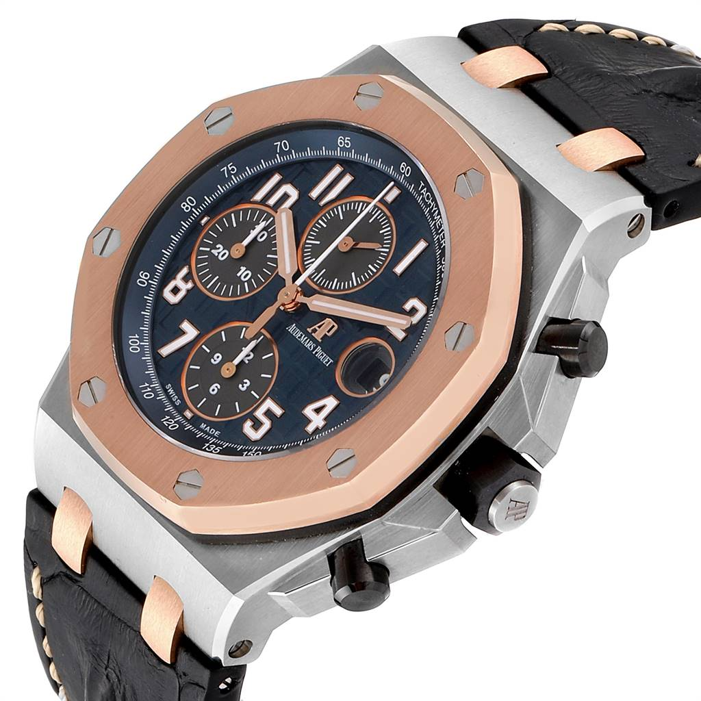 25943 Audemars Piguet Royal Oak Offshore Steel Rose Gold Mens Watch 26471ST SwissWatchExpo