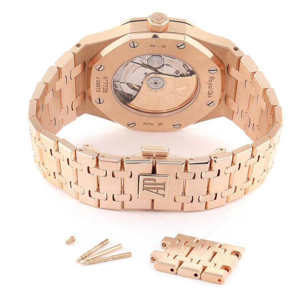 26318 Audemars Piguet Royal Oak 41mm Rose Gold Mens Watch 15400OR Box Papers SwissWatchExpo