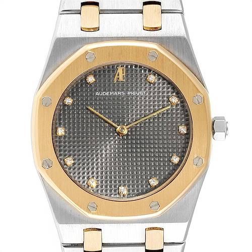 Photo of Audemars Piguet Royal Oak 33mm Diamond Steel Yellow Gold Mens Watch