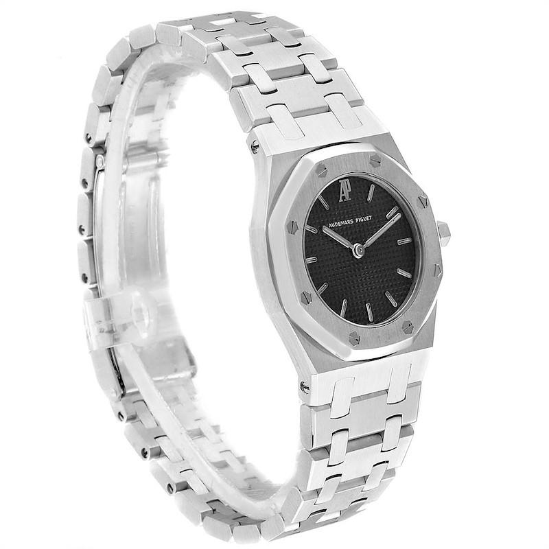 Audemars Piguet Royal Oak Black Dial Steel Ladies Watch 66007ST SwissWatchExpo