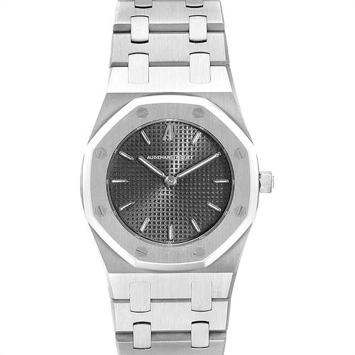 Photo of Audemars Piguet Royal Oak Black Dial Steel Ladies Watch 66007ST
