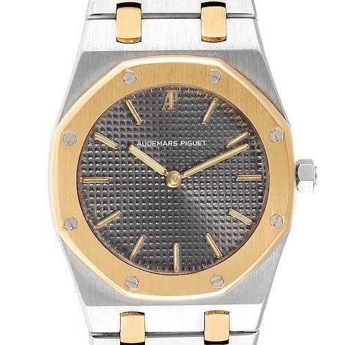 Photo of Audemars Piguet Royal Oak 33mm Grey Dial Steel Yellow Gold Mens Watch